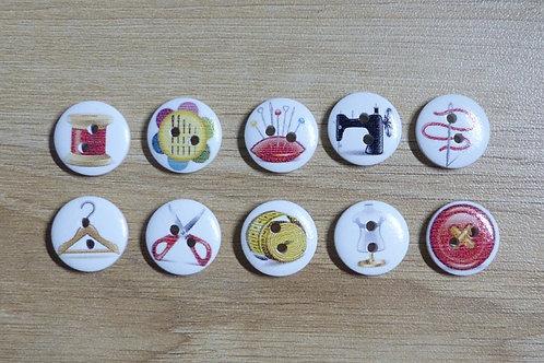 Lot de 10 boutons matériel de couture