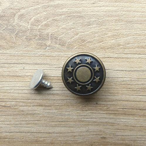2 boutons à rivet bronze