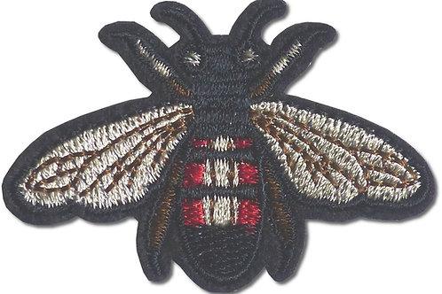 Ecusson thermocollant abeille dorée et rouge