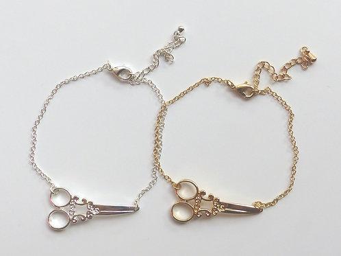 Bracelet ciseaux à broder