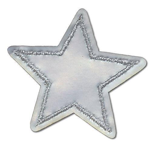 Ecusson thermocollant étoile argentée