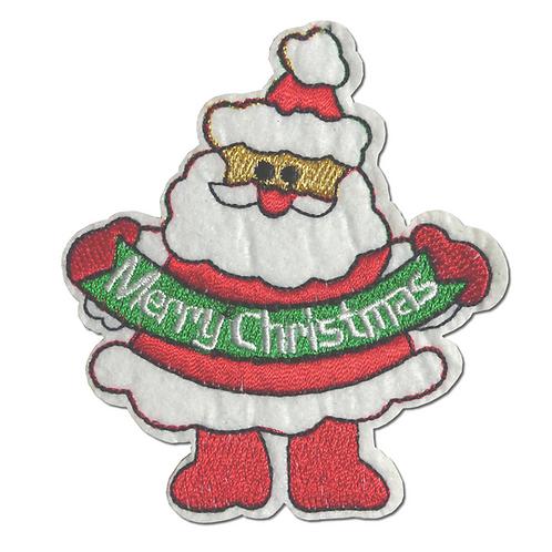Ecusson thermocollant père-Noël Merry Christmas