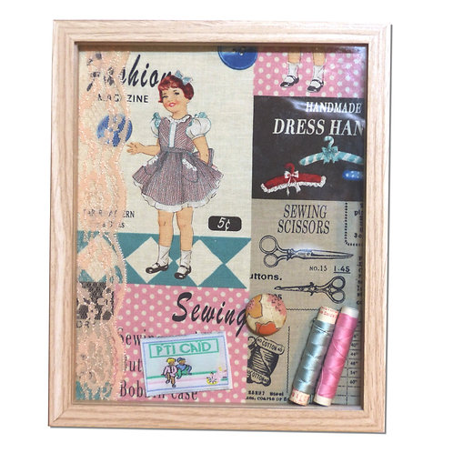 Cadre shadow-box demoiselle couture
