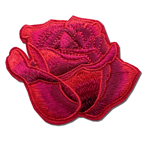 Ecusson thermocollant rose rouge