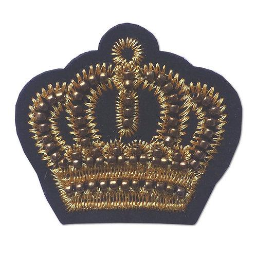 Ecusson thermocollant couronne dorée