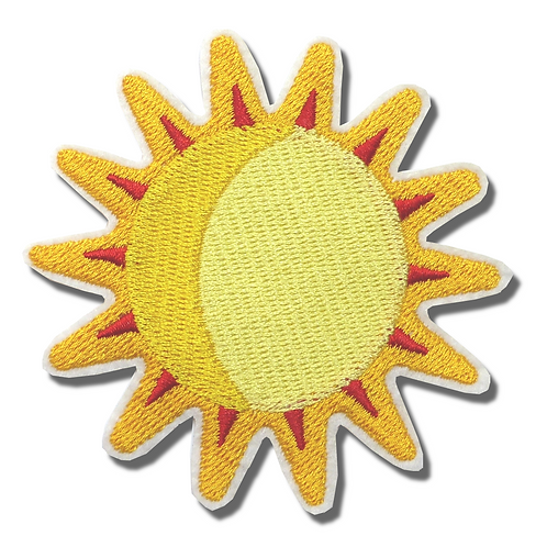 Ecusson thermocollant grand soleil