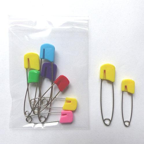 Epingles à nourrice colorées - 2 tailles