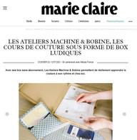 Marie-Claire parle des Ateliers dans le dossier spécial DIY !