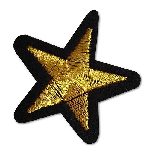 Ecusson thermocollant étoile jaune et noire