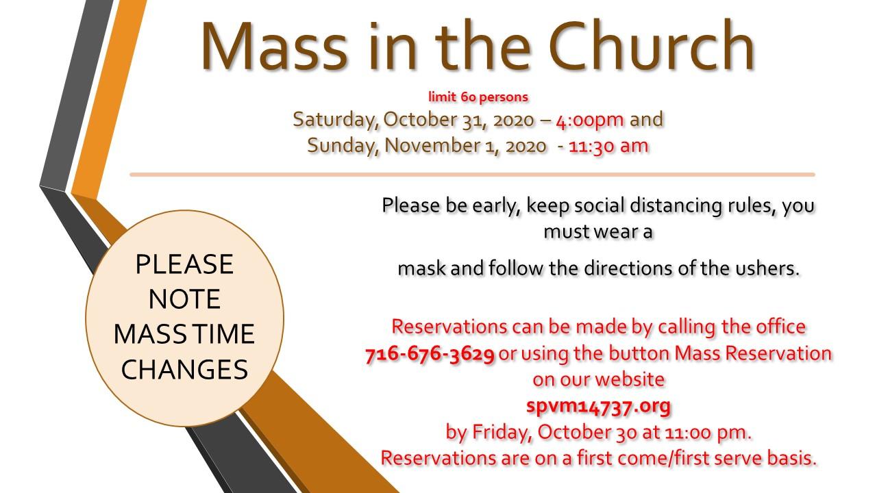 Mass in the Church November 1