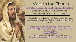 Mass Signup 7th Sunday of Easter