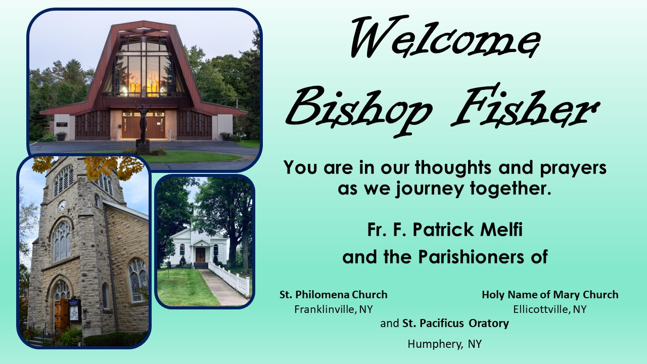 Welcome Bishop Fisher