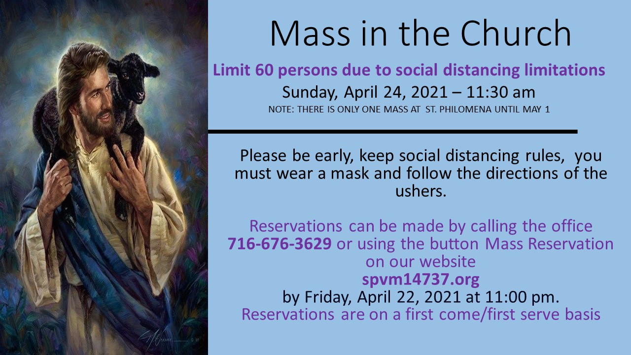 Mass Signup 4th Sunday of Easter