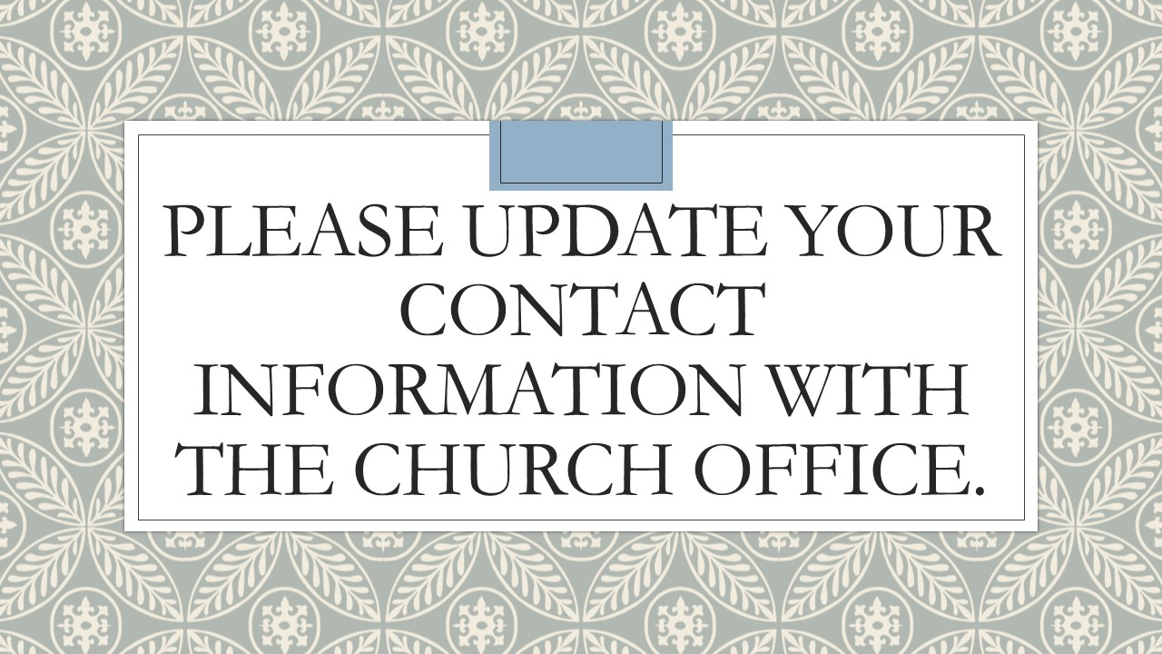Please update your contact information w