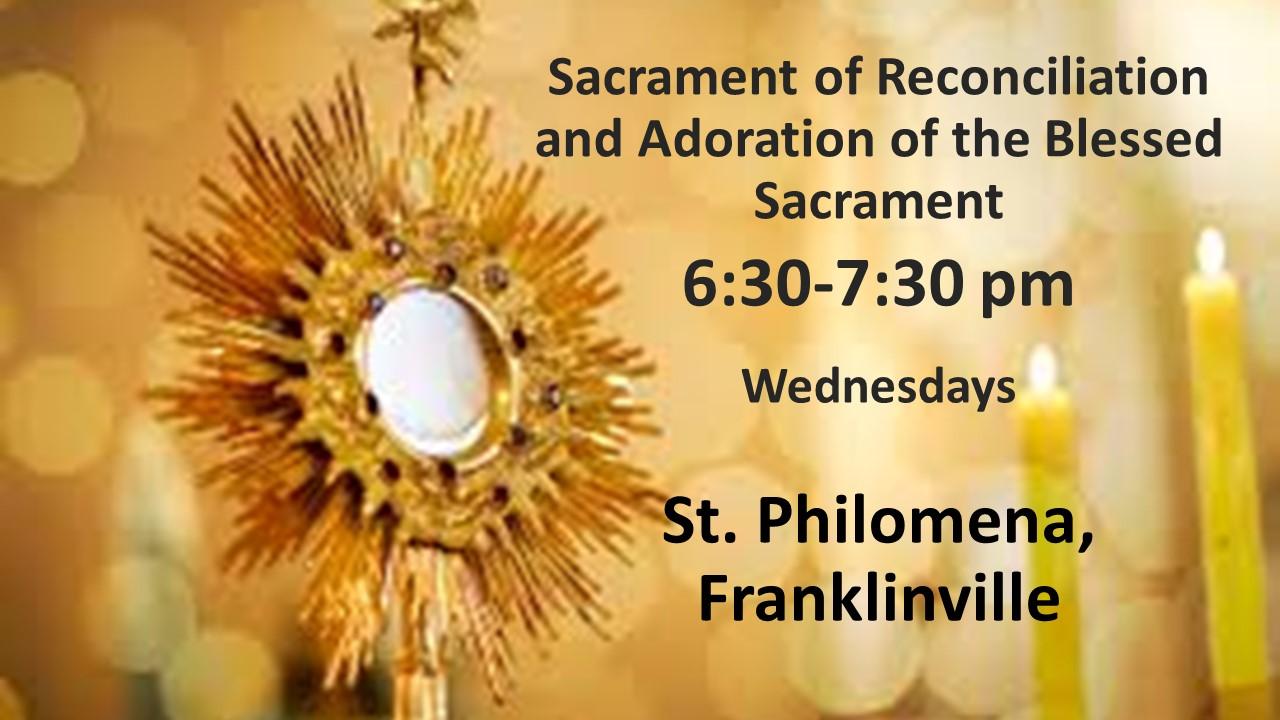 Sacrament of reconciliation and adoratio