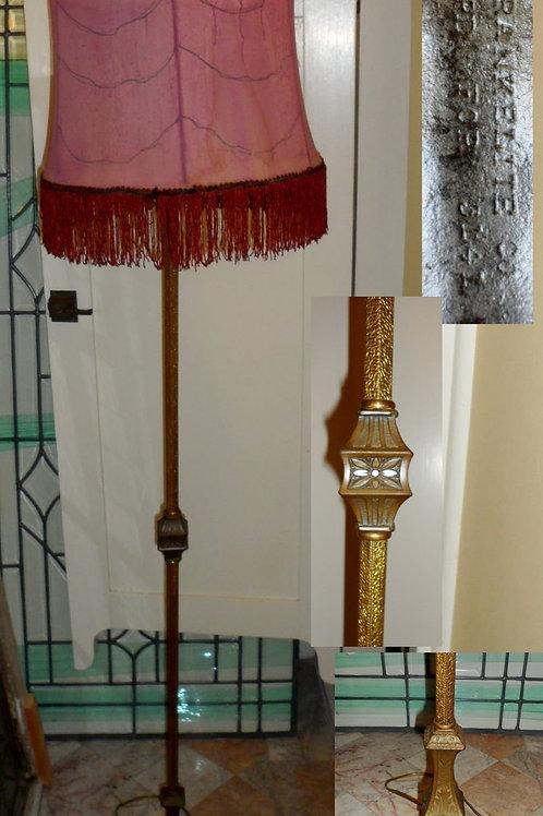1920s Brass Floor Lamp By Frankelite Co