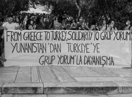 Αλληλεγγύη στο Grup Yorum: Από την Ελλάδα στην Τουρκία