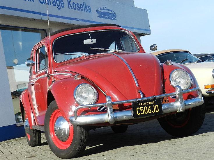 """VW Käfer mit HU und """"H"""" - """"Golde"""" Faltdach 1963 aus Kalifornien"""