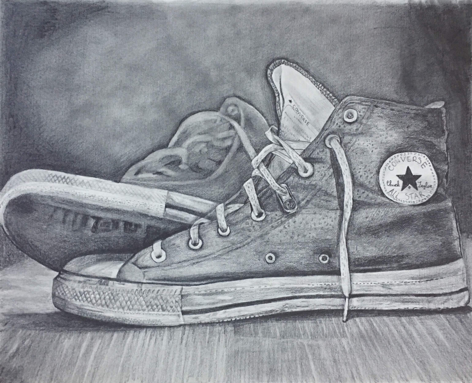 Shoes pencil drawing