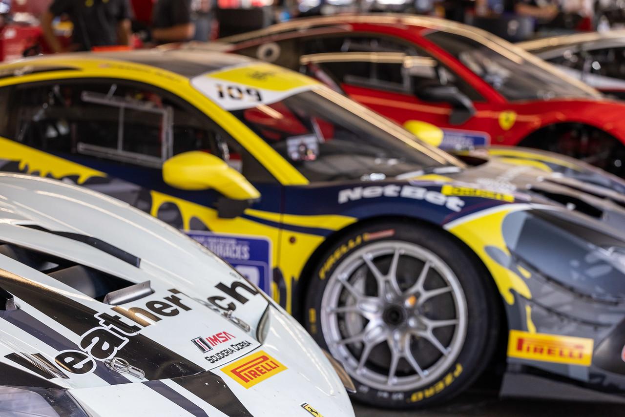 Ferrari Challenge cars.