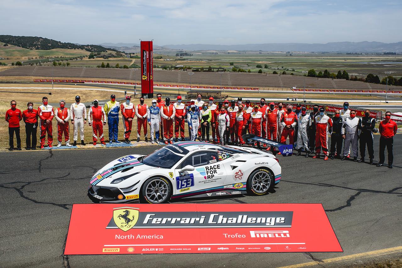 Team with the Ferrari.