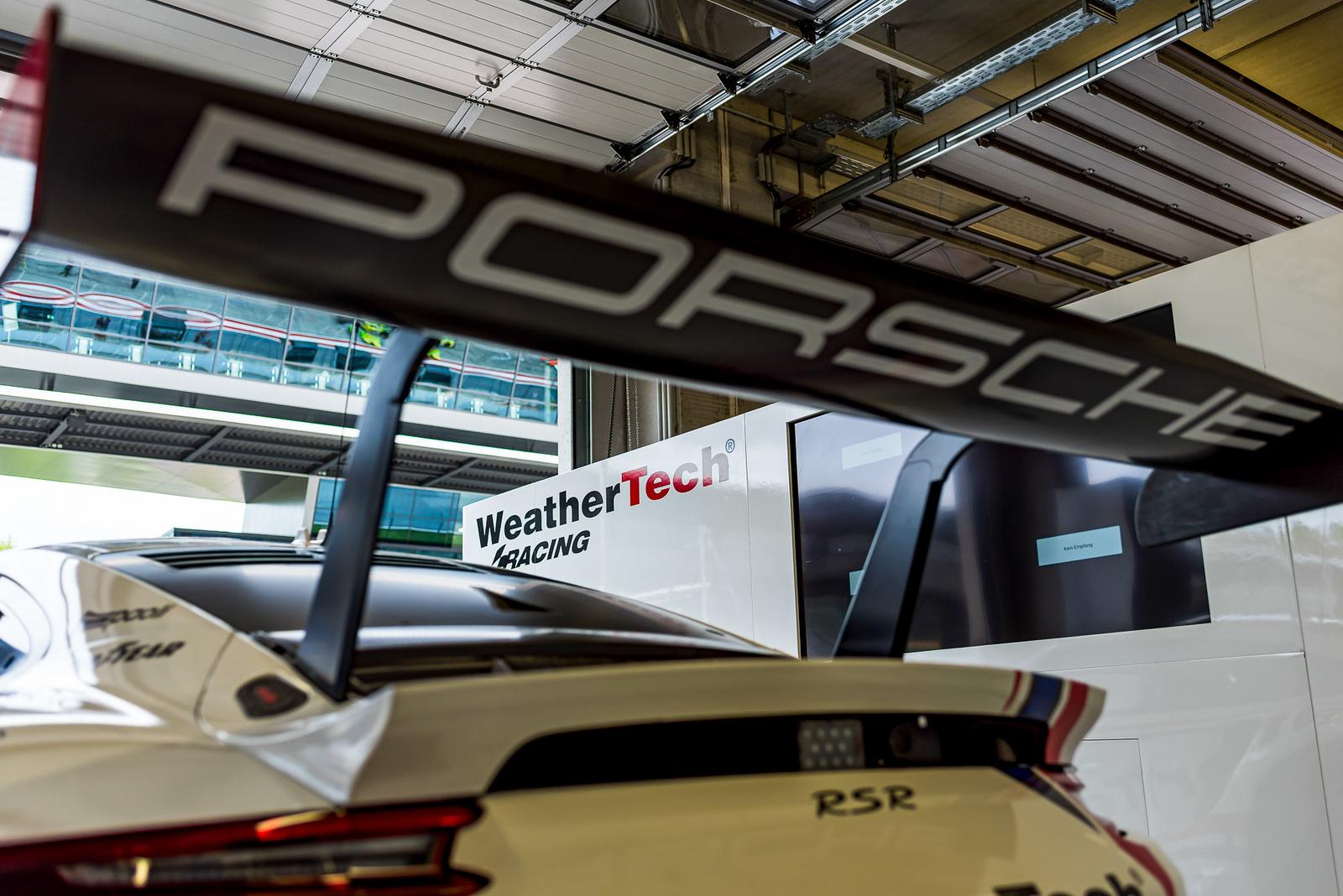 Close up of the Porsche.