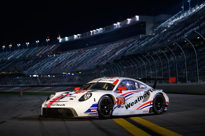 Porsche on track.