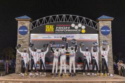 Drivers on the podium.