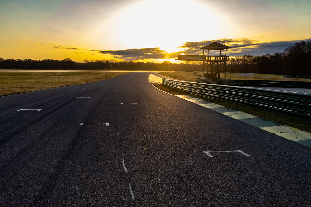 Track shown at sunset.