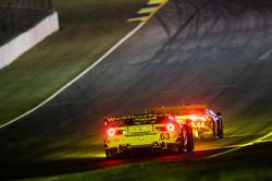 Ferrari in traffic.