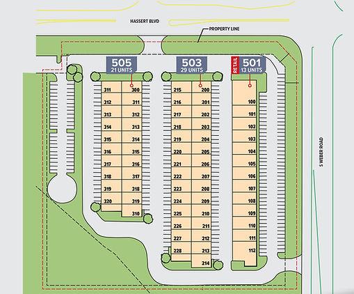 Property layout map.
