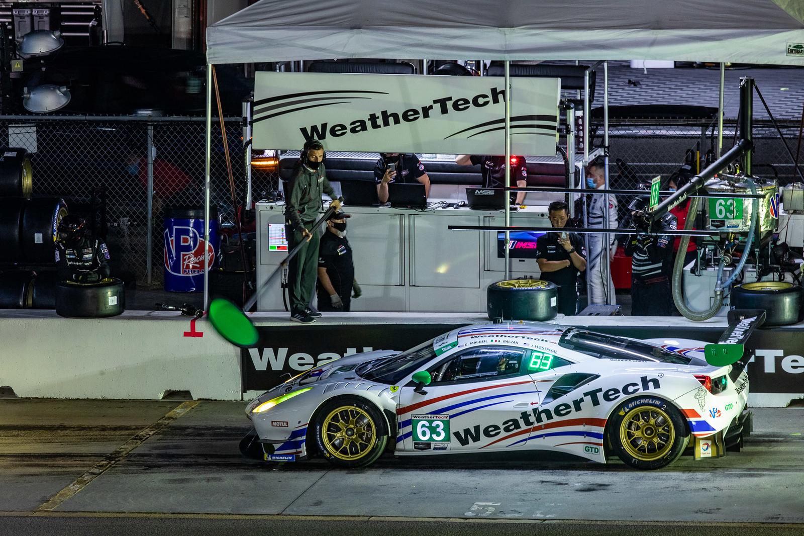 Ferrari in pit.