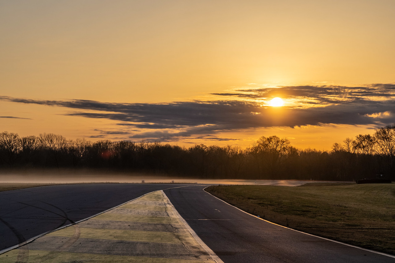 Track at sunset.