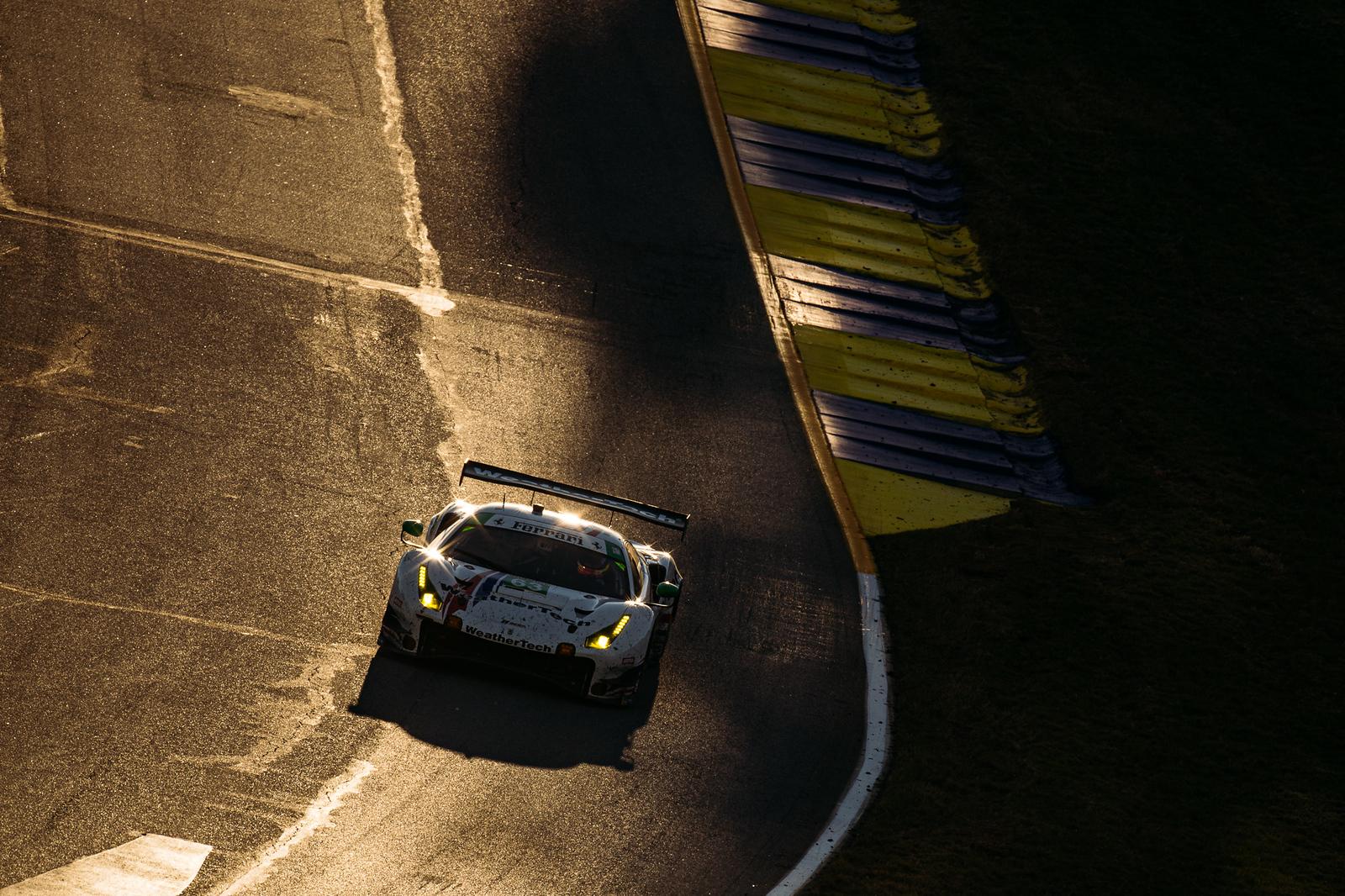 Ferrari rounding turn.