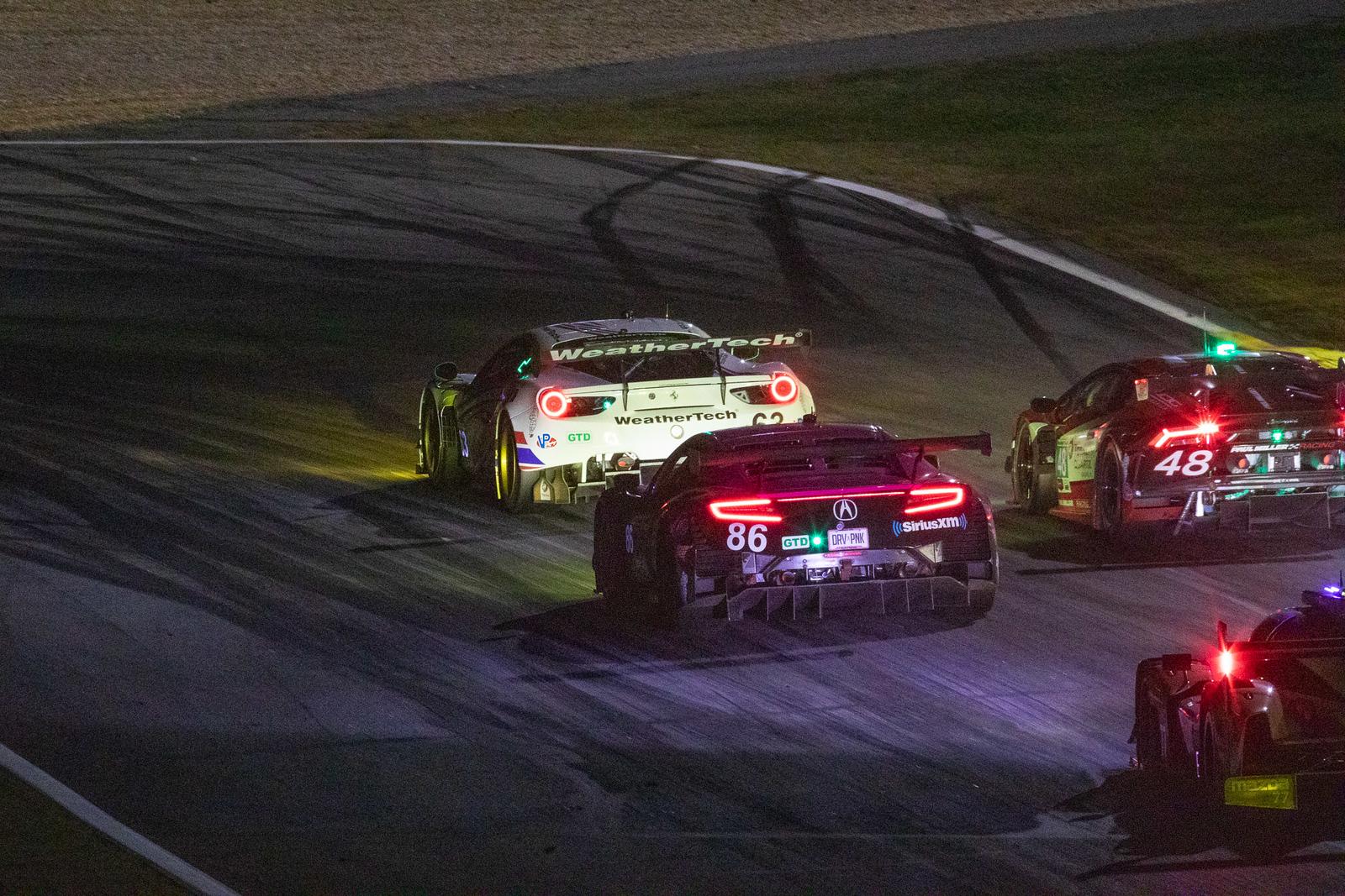Ferrari making a pass.