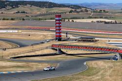 Shot of Ferrari on track.
