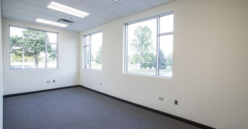 View of office windows.