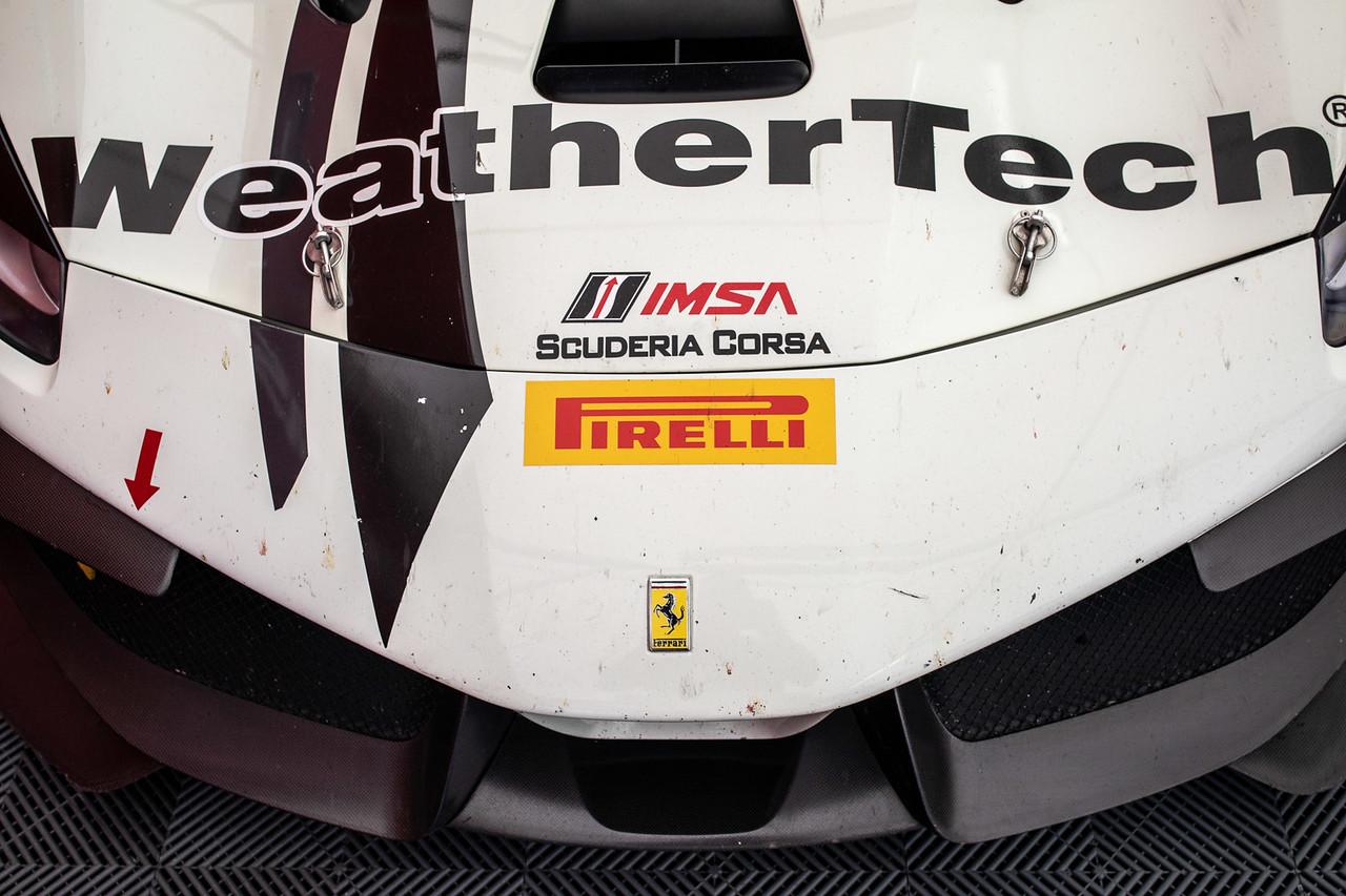 Top view of Ferrari hood.