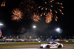 Car under the fireworks at Daytona_