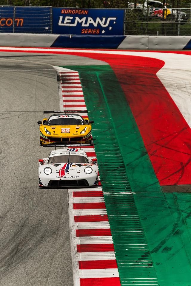 Porsche leading traffic.