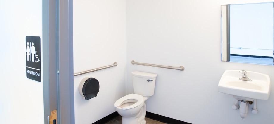 Inside view of restroom of bronze unit..j