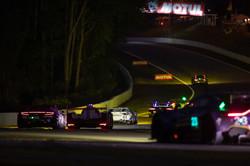 Racing down the line.