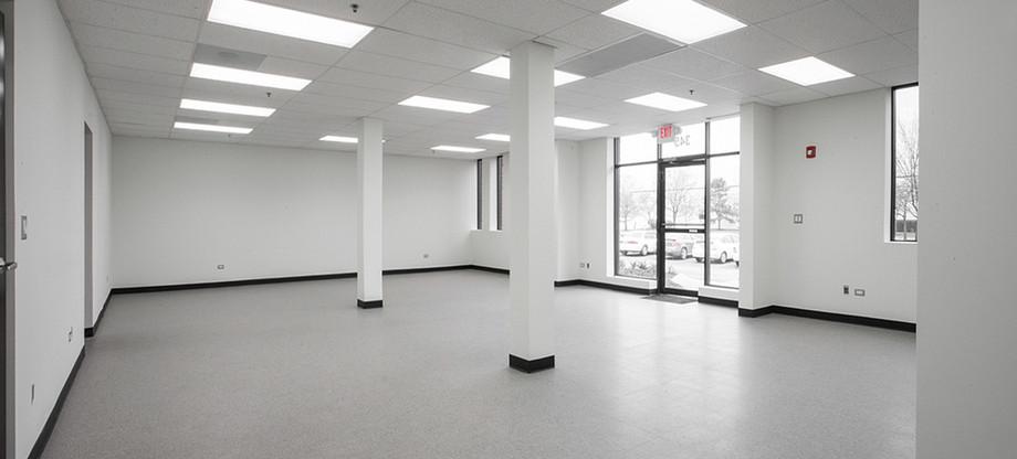 Inside of building.