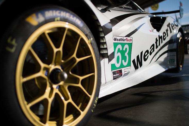 Side view of WeatherTech Ferrari.