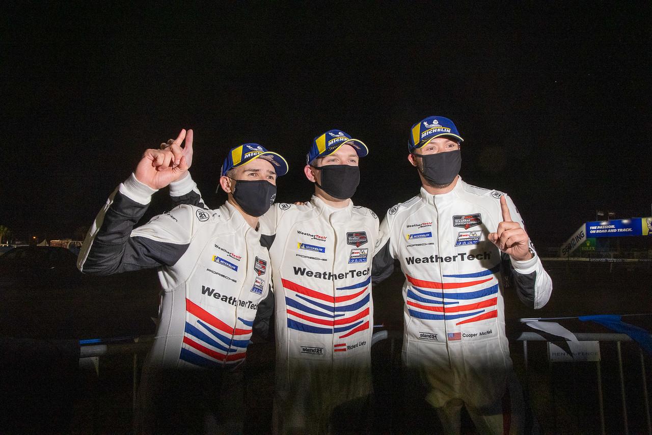 Racing team TV interview.