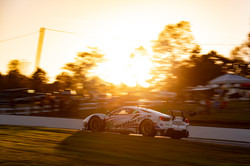 Ferrari racing down the line.