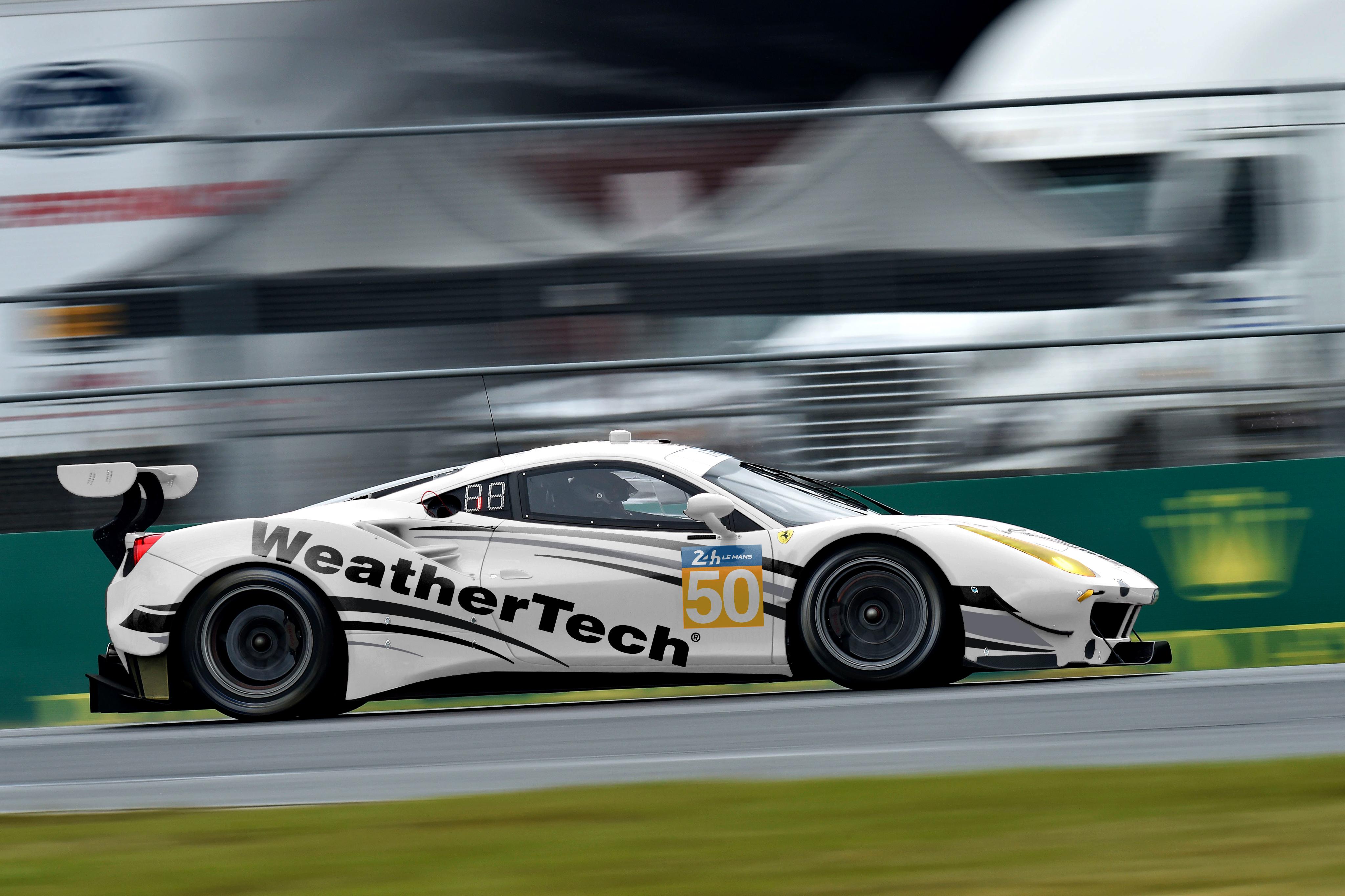 weathertech racing to run ferrari 488 gte at le mans 24