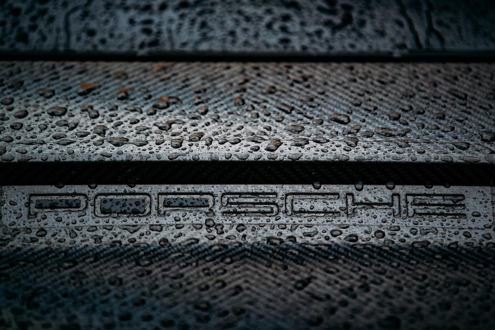 Close up of Porsche logo_
