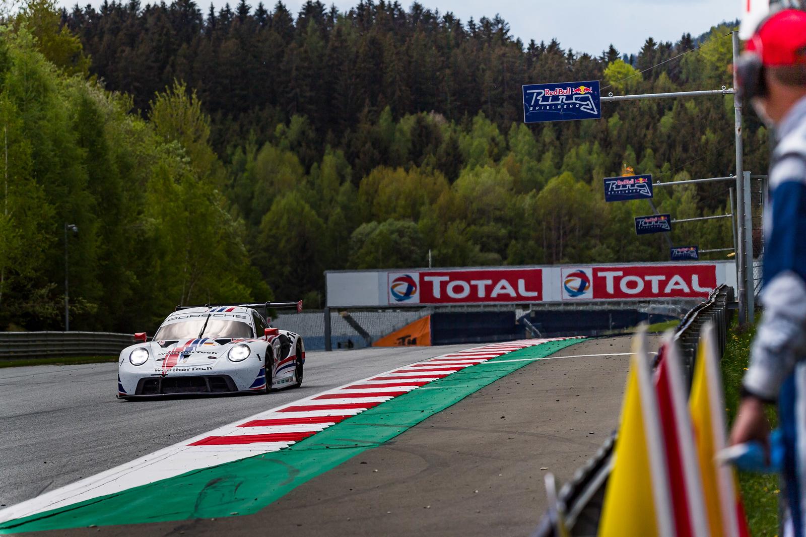 Porsche on straight away.