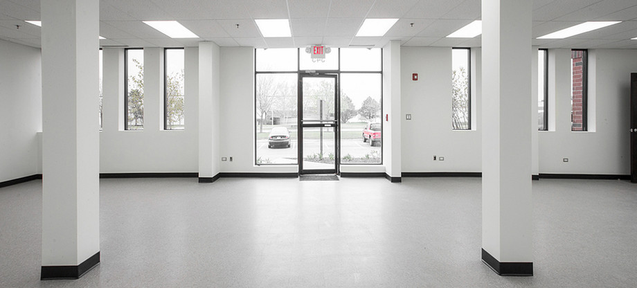 Inside of building looking towards main entrance.